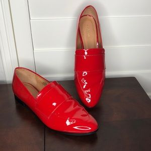 Halogen Lucy Red Patent Leather Flats Size 9.5
